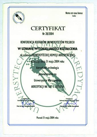 Certyfikat Akredytacyjny